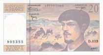 France 20 Francs Debussy - 1997 Serial D.053 - aUNC