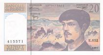 France 20 Francs Debussy - 1997 Serial E.052 - aUNC