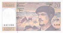 France 20 Francs Debussy - 1997 Serial E.053 - AU+