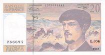 France 20 Francs Debussy - 1997 Serial E.054 - UNC