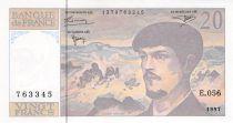France 20 Francs Debussy - 1997 Serial E.056 - aUNC