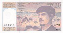 France 20 Francs Debussy - 1997 Serial E.058 - AU