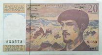 France 20 Francs Debussy - 1997 Serial N.063 - XF