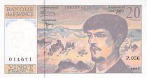 France 20 Francs Debussy - 1997 Serial P.056 - AU