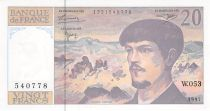 France 20 Francs Debussy - 1997 Serial W.053 - aUNC