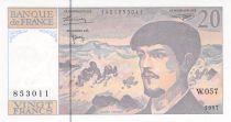 France 20 Francs Debussy - 1997 Serial W.057 - AU