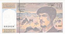 France 20 Francs Debussy - 1997 Serial X.060 - aUNC