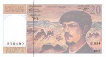 France 20 Francs Debussy - 1997 Série B.054 - NEUF