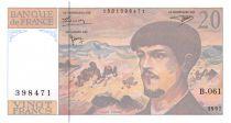 France 20 Francs Debussy - 1997 Série B.061 - P.NEUF