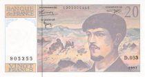 France 20 Francs Debussy - 1997 Série D.053 - P.NEUF
