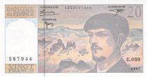 France 20 Francs Debussy - 1997 Série E.050 - SPL+
