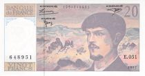 France 20 Francs Debussy - 1997 Série E.051 - P.NEUF