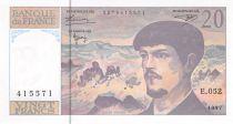 France 20 Francs Debussy - 1997 Série E.052 - P.NEUF