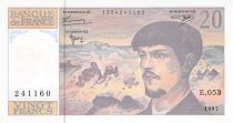 France 20 Francs Debussy - 1997 Série E.053 - SPL+