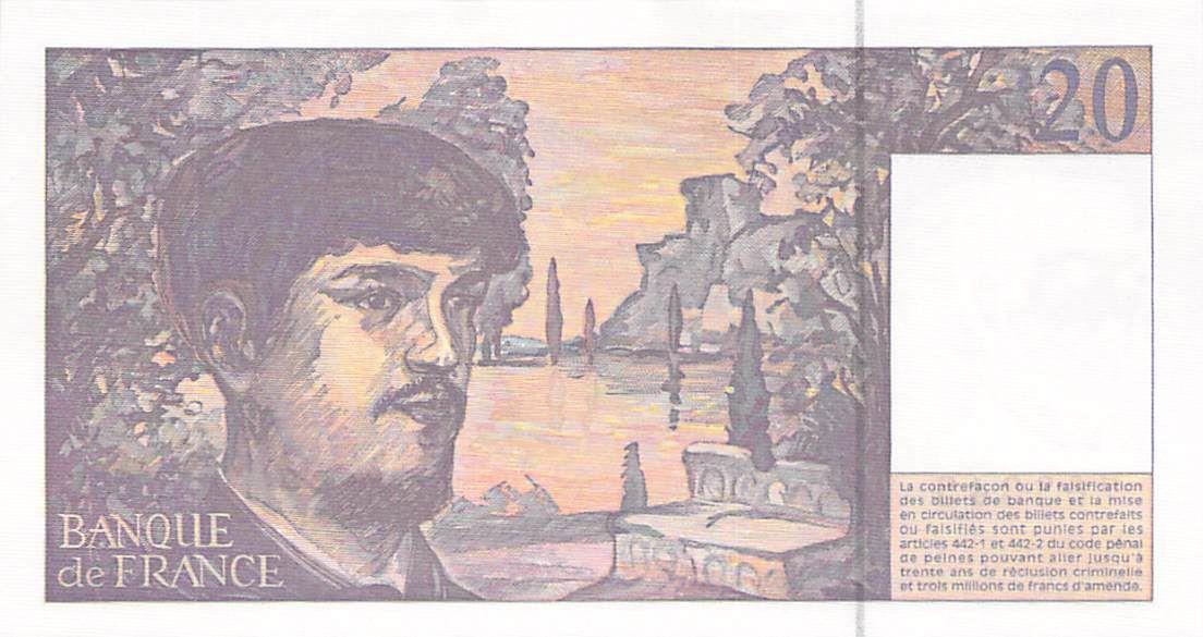 France 20 Francs Debussy - 1997 Série E.056 - P.NEUF
