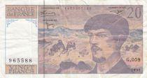 France 20 Francs Debussy - 1997 Série G.059