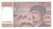 France 20 Francs Debussy - 1997 Série M.050