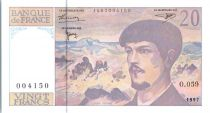 France 20 Francs Debussy - 1997 Série O.059