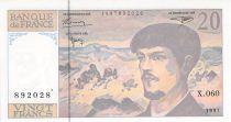 France 20 Francs Debussy - 1997 Série X.060 - P.NEUF