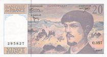 France 20 Francs Debussy - années variées 1980-1997 - VF+ to XF