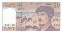 France 20 Francs Debussy - P.029 - 1990