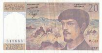 France 20 Francs Debussy - V.021 - 1987