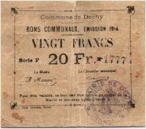 France 20 Francs Dechy City - 1914