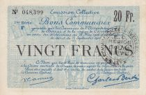 France 20 Francs Douai City - 1916