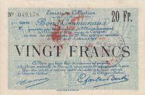 France 20 Francs Douai City - 1916