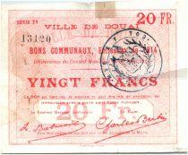 France 20 Francs Douai Commune - 1914