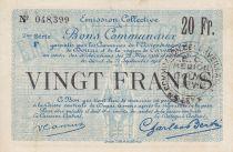 France 20 Francs Douai Commune - 1916