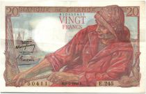 France 20 Francs Fisherman - 1950