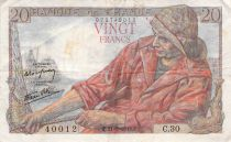 France 20 Francs Fisherman - 21-05-1942 Serial C.30 - F