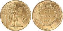 France 20 Francs Génie - 1886 A Or