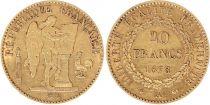 France 20 Francs Génie - III e République - 1878 A