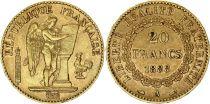 France 20 Francs Genius - 1888 A Paris Gold