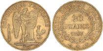 France 20 Francs Genius - III e Republic 1897 A Paris - Gold