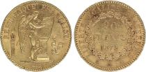 France 20 Francs Gold Genius - 1875 A Paris