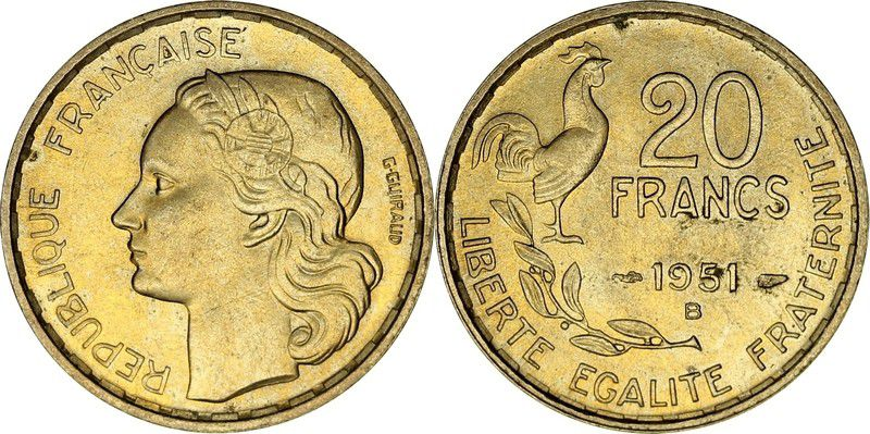France 20 Francs Guiraud - 1951 B