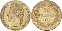 France 20 Francs Louis Philippe I - Laureate head 1840 A - Gold