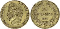 France 20 Francs Louis Philippe I - Laureate head 1847 A