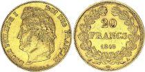 France 20 Francs Louis Philippe I - Laureate head 1848 A - Gold