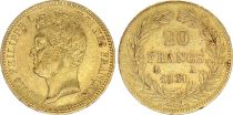 France 20 Francs Louis-Philippe I 1831 A - Or