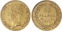 France 20 Francs Louis-Philippe I 1831 B Rouen - Or