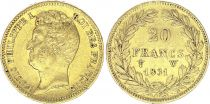 France 20 Francs Louis-Philippe I 1831 W - Gold - Incuse type