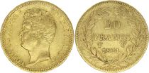France 20 Francs Louis-Philippe I 1831 W Lille - Gold - Incuse