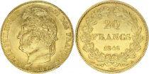 France 20 Francs Louis Philippe Ier - Tête Laurée -  1848 A - Or