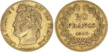 France 20 Francs Louis Philippe Ier 1840 A - Or