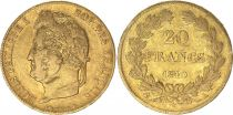 France 20 Francs Louis Philippe Ier TL 1840 A - Or