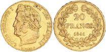 France 20 Francs Louis Philippe Ier TL 1841 A
